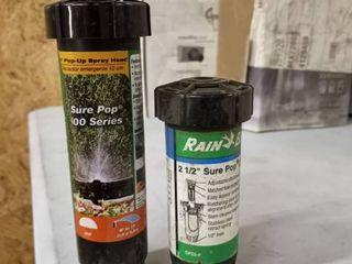 large lot of Rain Bird 4 inch pop up spray head sure pop 600 series with Rain Bird 2 and 1 2 inch sugarpop