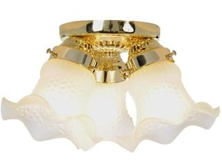 2   AF lighting 671320 14 3 4 Inch D by 6 3 4 Inch H Decorative Ceiling Fixture  Polished Brass