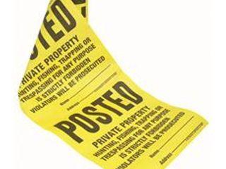 12 rollsTyvek Posted Roll Sign