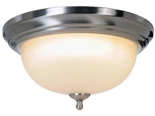 2 fixtures F lighting 617216 Sonoma lighting Collection 1 light Flush Mount  Brushed Nickel  13 1 4 Inch W by 6 1 4 Inch H