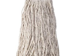 approximately 20 Cotton Synthetic Cut End Blend Mop Head  24oz  1in Band  White