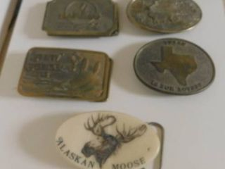 Five State Specific Belt Buckles