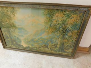 Framed Maxfield Parrish Picture