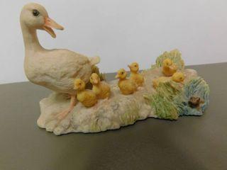 Schmid Figurine   Duck Family