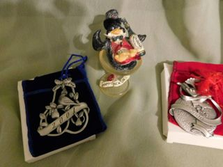 Metal Christmas Ornaments  2 ea
