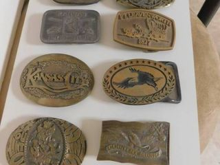 Eight Belt Buckles