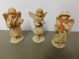 Schmid Figurines   Angels  3 ea