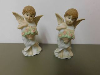 Schmid Figurines   Angels  2 ea