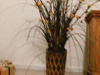 Ceramic Vase with Floral Arrangement