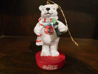 Coke Bear Ornament