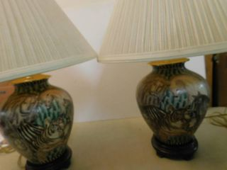 Pair of Animal Print Accent lamps