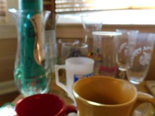 Misc  Hurricane Glass Flutes  etc
