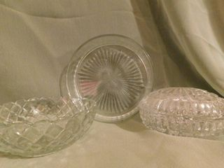 Crystal Dishes  3 ea
