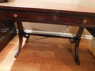 leather Top Drop leaf Table