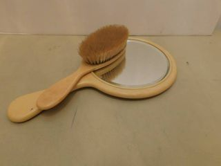 Vintage Handheld Mirror   Brush
