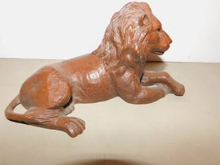 lion Figurine Made of Pecan Shells
