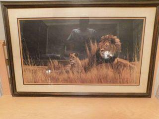 Fantastic Framed lion Picture
