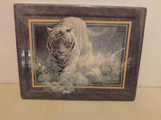 Ceramic Tiger Plate