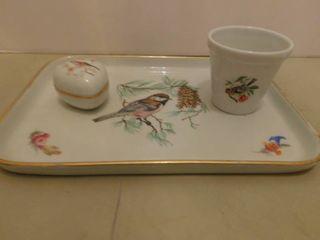 limoge Porcelain Set  3 ea