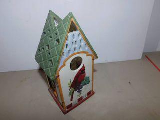 lenox Cardinal Bird House