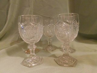 Antique circa 1886 Crystal Sherry Glasses