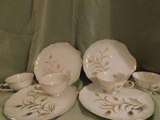 lefton China Tea Dessert Set