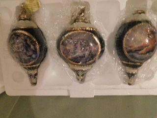 Bradford Edition Set Of Three Ornaments   Certificate A1101