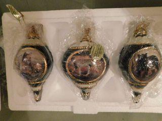 Bradford Edition Set Of Three Ornaments Certificate A0164