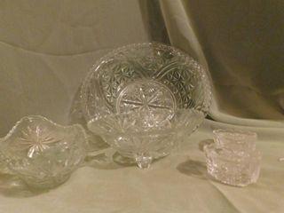 Glass Items  4 ea