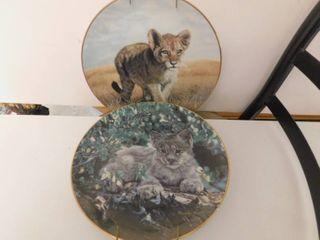 Collector Feline Plates  2 ea
