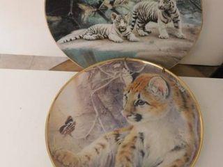 Feline Collector Plates  2 ea