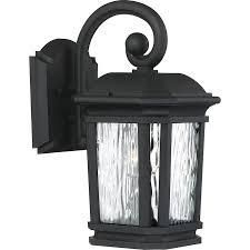 Quoizel lighting 1479177 Corrugated 1 light Outdoor Wall lantern  Matte Black