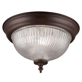 Project Source 11 in W Oil Rubbed Bronze Ceiling Flush Mount