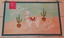 Alpacas llama Holiday Printed Accent Rug 21  X 34
