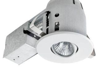 Globe Electric 90440 4 Inch Sleek Directional Recessed lighting Kit  White