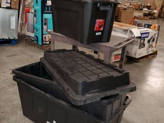 lot of Misc large Totes Storage