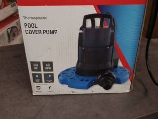 Utilitech 1 4hp Thermoplastic 0955587 Utility Pool Cover Pump 40gpm 115v 148003