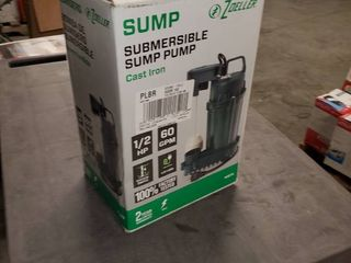 Zoeller Submersible Sump Pump 1075 0001 1 2 Hp 60 Gpm Brand