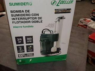 Zoeller 3 4hp 115v 80 Gpm Cast Iron Submersible Sump Pump Water lift 1099