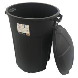 Blue Hawk 32 Gallon Black Outdoor Garbage Can