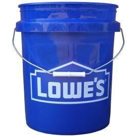 Two Buckets Encore Plastics 5 Gallon lowe s Bucket Encore