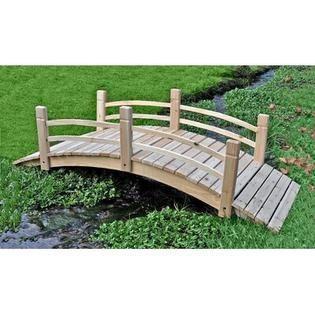 Shine Company Cedar Garden Bridge  6 Feet  Natural