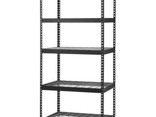 Edsal MROP3618W5B Steel Storage Rack  5 Adjustable Shelves  5000 lb  Capacity  72  Height x 36  Width x 18  Depth  Black