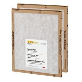 Filtrete 2 Pack Flat Panel Basic Flat Air Filters  Common  18 in x 24 in x 1 in  Actual  17 7 in x 23 7 in x 1 in