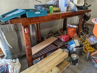 Wooden Bar Height Table