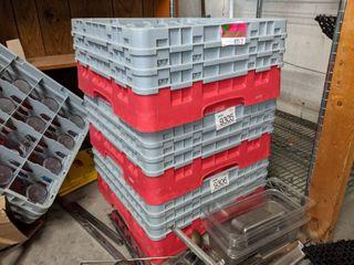 Over 40 Plastic Cups And Glass Racks