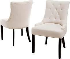 Hayden Contemporary Tufted Fabric Dining Chairs  Set of 2  by Christopher Knight Home  Retail 192 99
