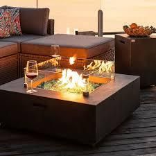 Cosiest Fire Table  and Glass wind guard