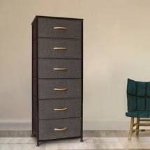 Crestlive Products Vertical Dresser Storage Tower   Sturdy Steel Frame  Wood