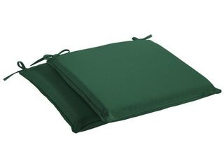 Humble   Haute Sunbrella Canvas Forest Green Indoor  Outdoor Cushion  Set of 2